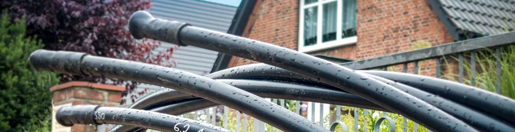 Kabel vor Baustelle