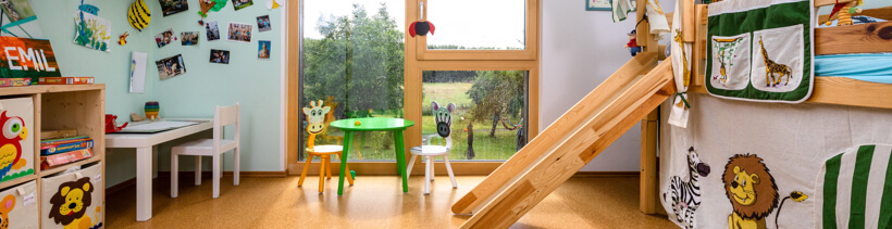 Raumklima im Holzhaus: Kinderzimmer
