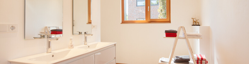 Raumklima im Holzhaus: Badezimmer