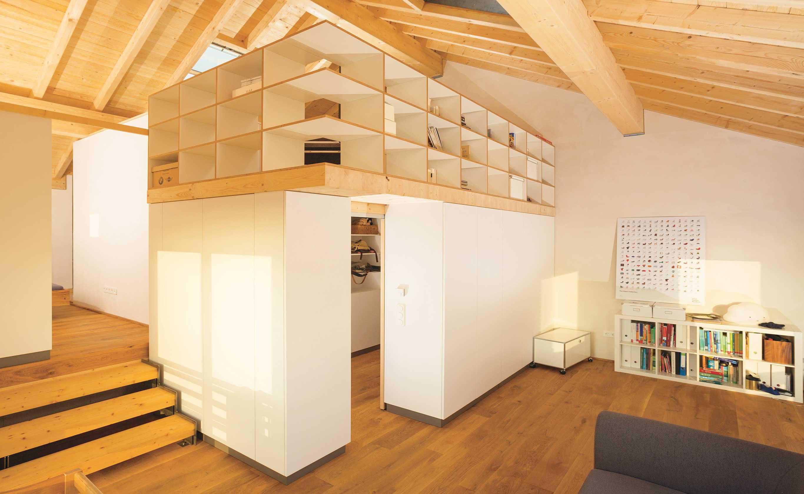 Moderner Holzbau, Innenansicht