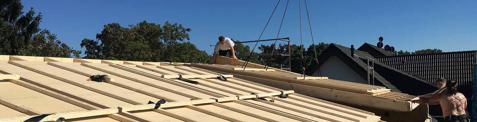 Bau eines Dachstuhls