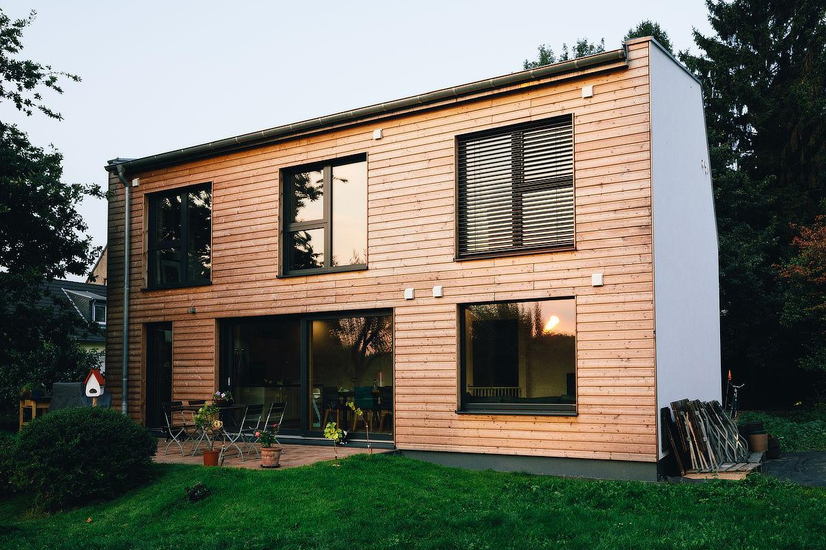 Holzhaus Moers, aussen