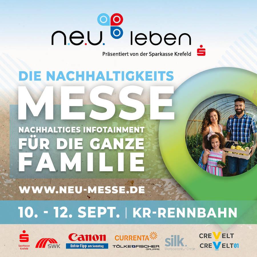 Nachhaltigkeitsmesse n.e.u leben in Krefeld. 10. bis 12.9.2021