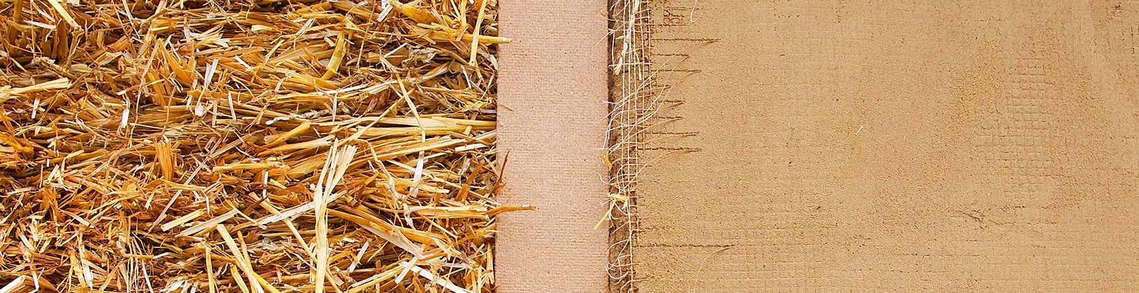 Stroh im Holzrahmenbau
