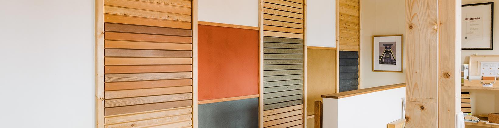 Oberflächenbehandlung von Holzfassaden